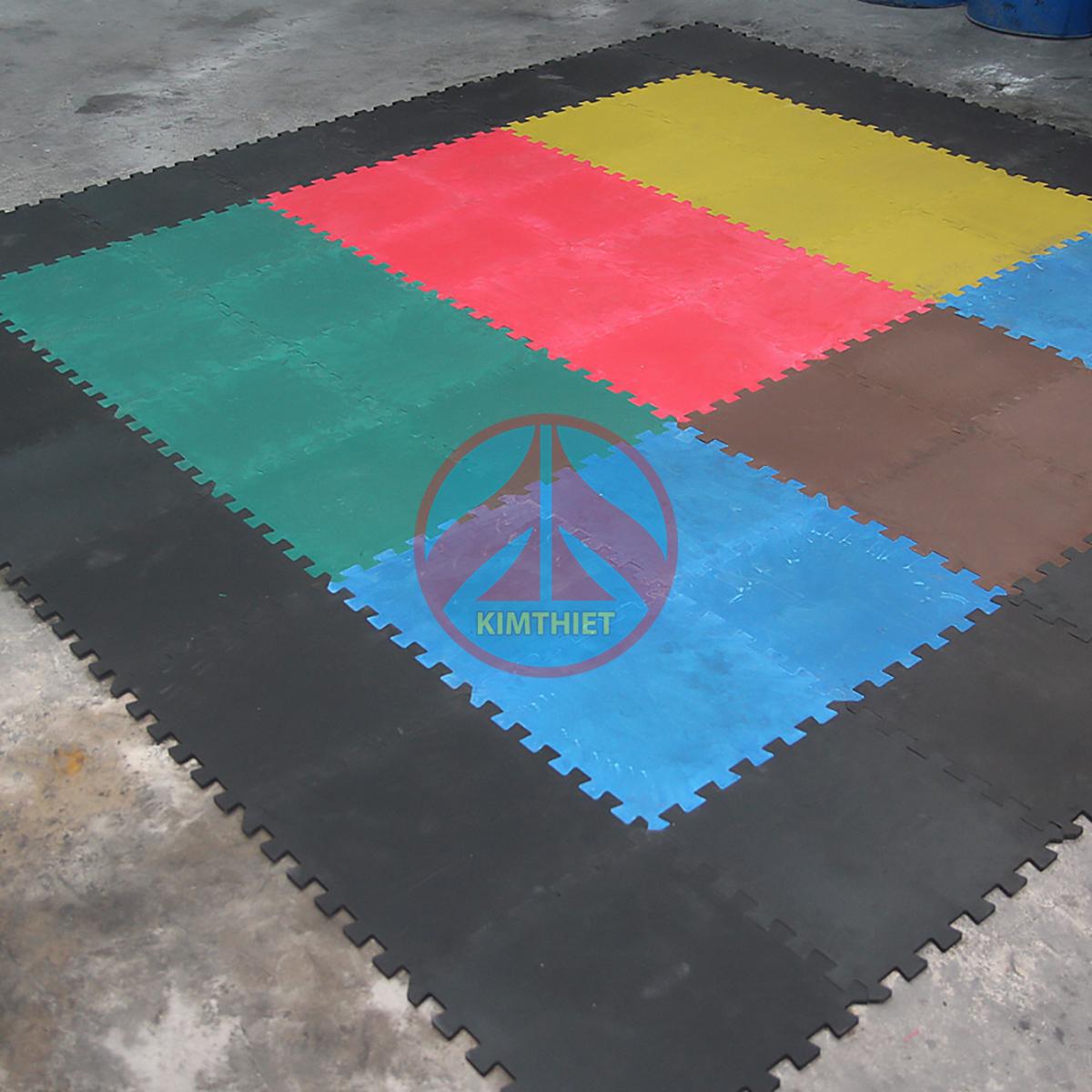 Thảm cao su tấm lắp ghép phòng gym