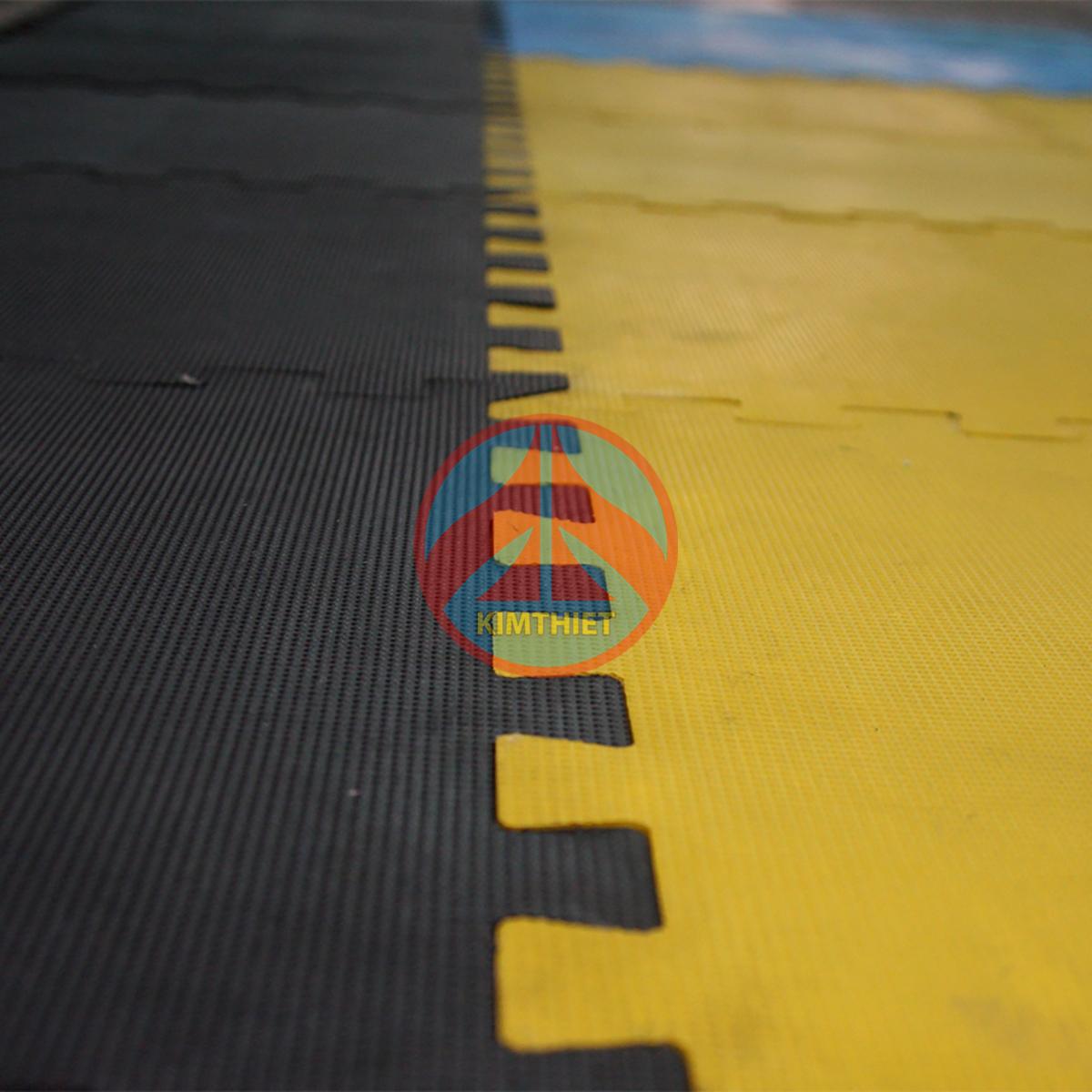 Thảm cao su tấm lắp ghép phòng Yoga